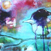 baby bird - canvas print