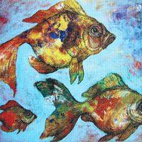 goldfish - canvas print