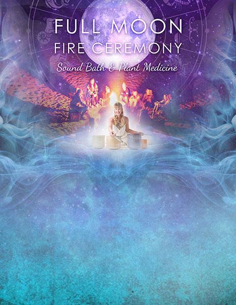 Poster illustration-design - Full-Moon-Fire-Ceremony